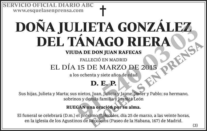 Julieta González del Tánago Riera